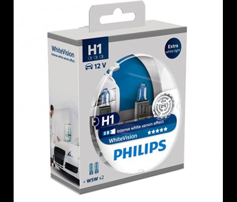 Галогенные лампы Philips White Vision H1 4500K