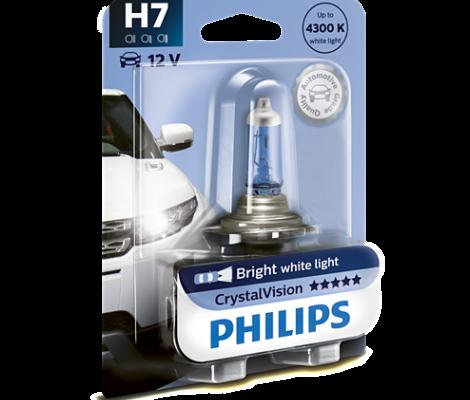 Галогенная лампа Philips CrystalVision H7 4300K