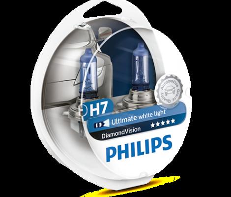 Галогеновые лампы Philips Diamond Vision H7