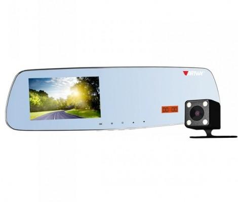 видеорегистратор с антирадаром и GPS в форме зеркала 5 в 1 Artway MD-165