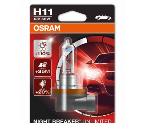 Галогеновые лампы Osram Night Breaker Unlimited H11