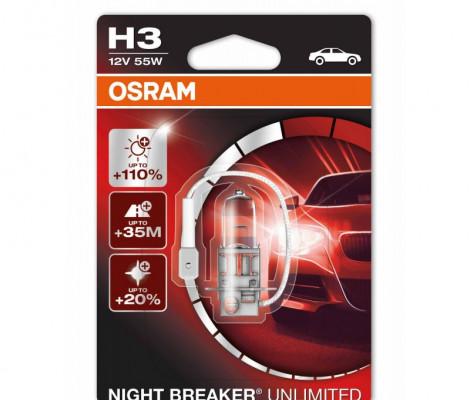 Галогенные лампы Osram Night Breaker Unlimited H3 4300K