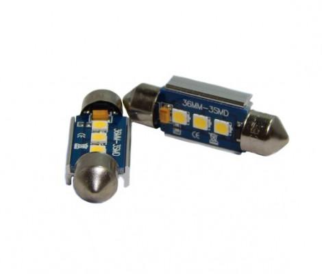 Лампа светодиодная PREMIUM DXL-C5W-3 SMD (3030) 36MM 2CAN-Bus Белый 12V