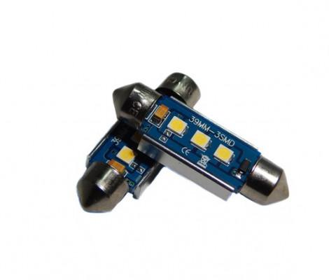 Лампа светодиодная PREMIUM DXL-C5W-3 SMD (3030) 39MM 2CAN-Bus Белый 12V