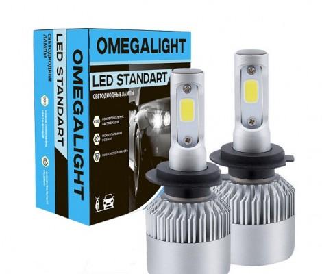 Светодиодные лампы Omega Light LED Standart H4bi
