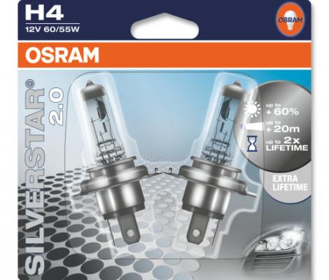 Галогенные лампы Osram Silverstar H4 3400K (1 шт.)