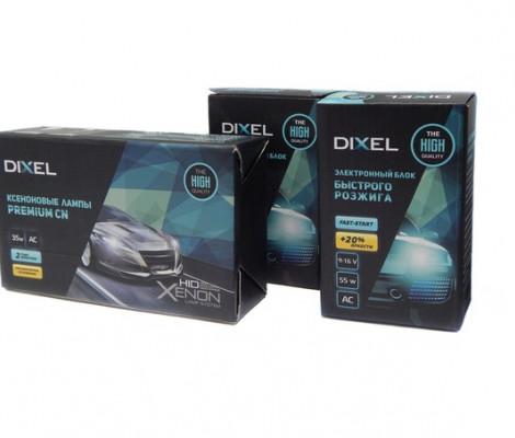 Комплект ксенона Dixel PREMIUM моментальный розжиг 12V 55W AC c лампами керамика
