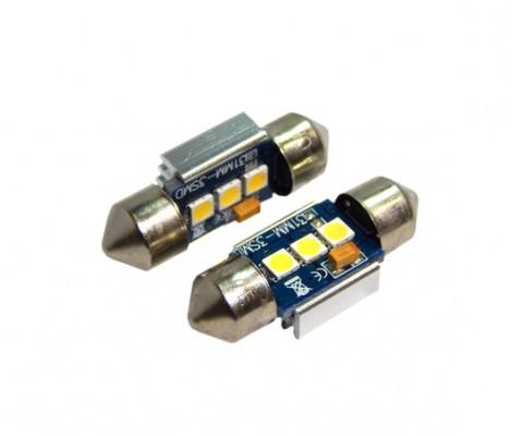 Лампа светодиодная PREMIUM DXL-C5W-3 SMD (3030) 31MM 2CAN-Bus Белый 12V