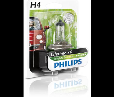 Галогеновые лампы Philips LongLife Eco Vision H4