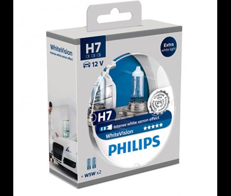 Галогенные лампы Philips White Vision H7 4500