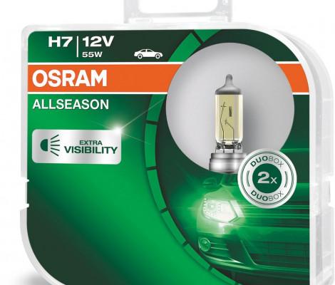 Галогеновые лампы Osram H7 AllSeason - 64210ALL-HCB (пласт. бокс)