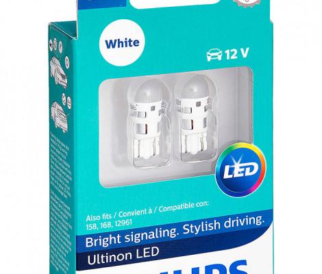 Лампы светодиодные Philips W5W Ultinon LED 6000K