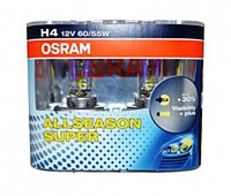 Галогеновые лампы Osram All season H4 (2шт.)