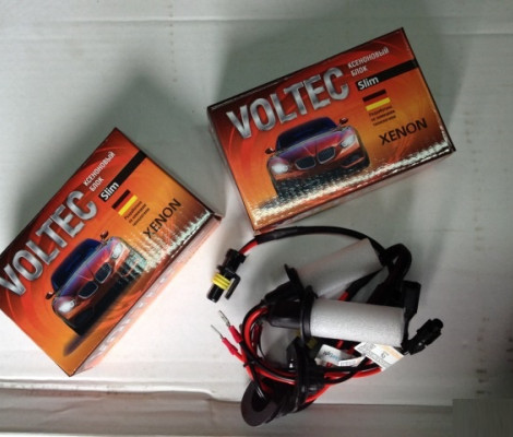 Комплект ксенона Voltec Slim AC с лампами металл