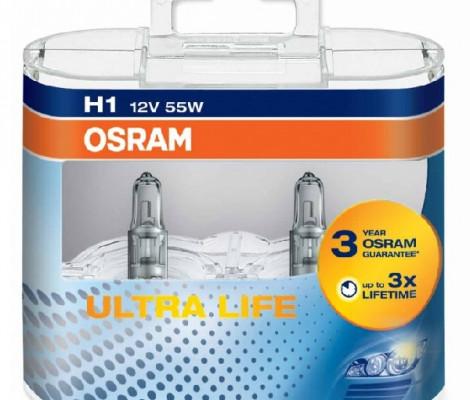 Галогеновые лампы Osram H1 Ultra Life