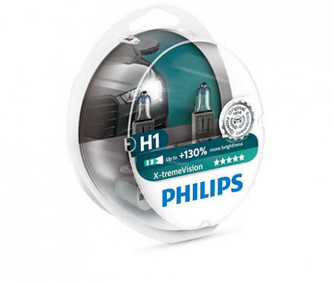Галогеновые лампы H1 Philips X-Treme Vision +130%