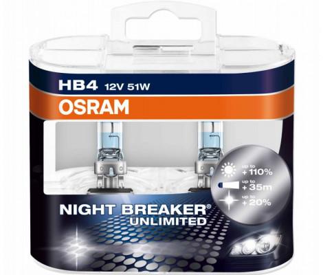 Галогеновые лампы Osram Night Breaker Unlimited 9006 HB4