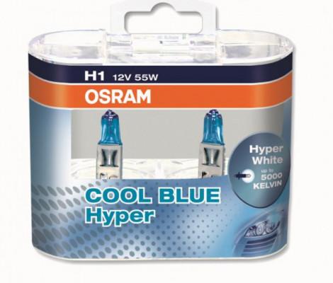 Галогеновые лампы Osram Cool Blue Hyper H1 5000K (2 шт.)