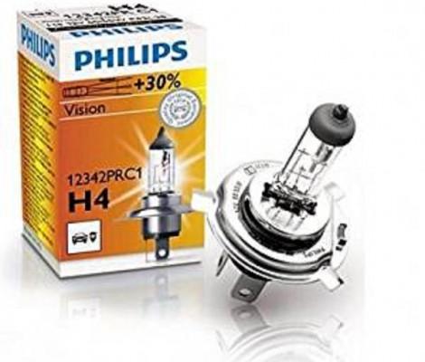 Галогеновые лампы H4 Philips Vision + 30%