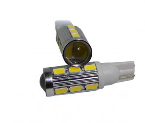 Лампа светодиодная PREMIUM DXL (W5W) T10-14 SMD(5630)+Линза 5000К 9-32V