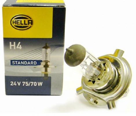 Галогеновые лампы Hella H4 70W