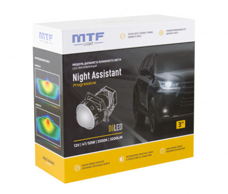 Светодиодный би-модуль MTF Night Assistant LED 3″