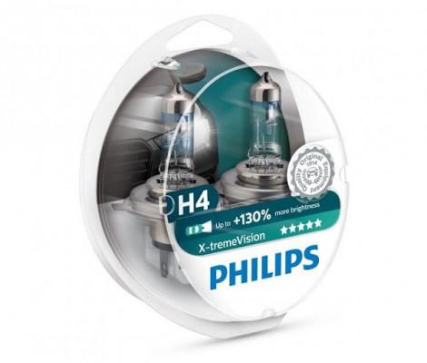 Галогеновые лампы H4 Philips X-Treme Vision +130%