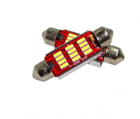 Лампа светодиодная PREMIUM DXL-C5W-12SMD(4014) 42 MM 2CAN-Bus Белый 12V