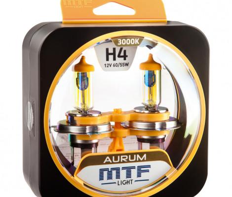 Галогеновые лампы MTF-Light H4 Aurum
