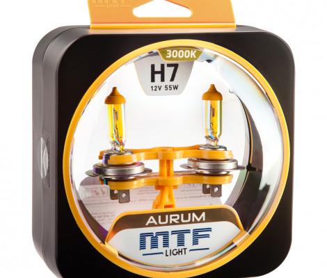 Галогеновые лампы MTF-Light H7 Aurum