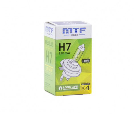 Лампа галогенная MTF light Standard +30% H7