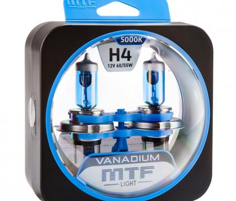 Галогеновые лампы MTF-Light H4 Vanadium