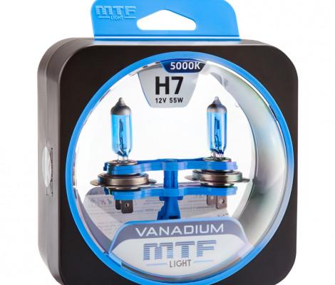 Галогеновые лампы MTF-Light H7 Vanadium