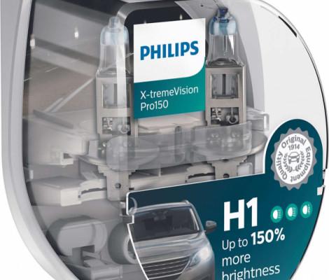 Лампа автомобильная PHILIPS X-treme Vision Pro150 H1