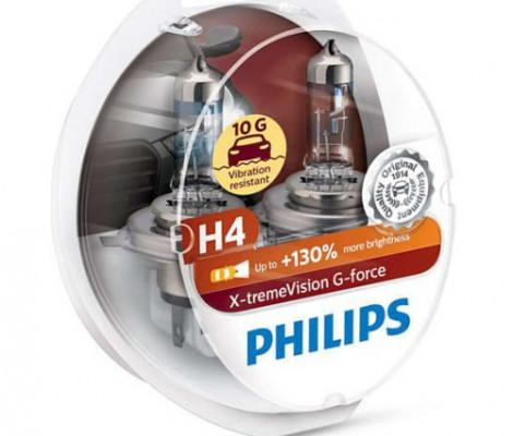 Галогеновые лампы Philips X-tremeVision G-force (+130%)
