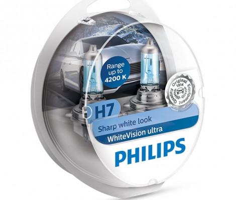 Лампа галогенная PHILIPS H7 White Vision Ultra 4200K