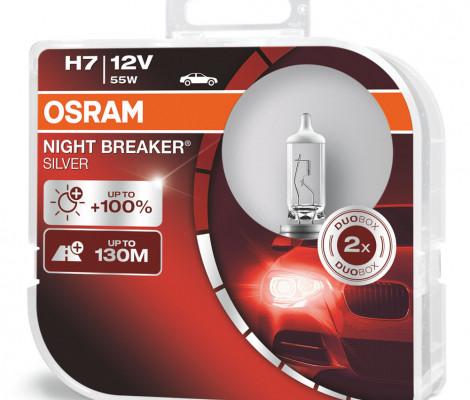 Галогеновые лампы Osram H7 Night Breaker Silver - 64210NBS-HCB (пласт. бокс)