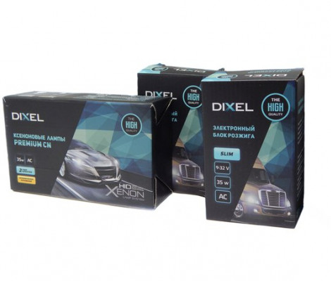 Комплект ксенонового света Dixel Slim 9-32V 35W AC c лампами керамика
