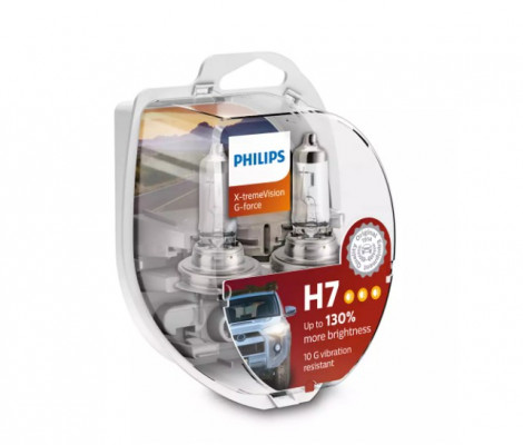 Лампа галогенная PHILIPS H7 X-treme Vision G-force